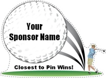 Closest To Pin Golf Swing Shaped Sign