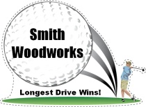 Longest Drive Golf Swing Shaped Sign