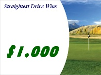 Straightest Drive Mountain golf