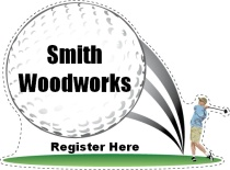Registration Table Golf Swing Shaped Sign